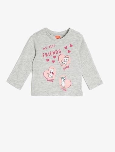 Koton Kids Baskılı T-Shirt Beyaz